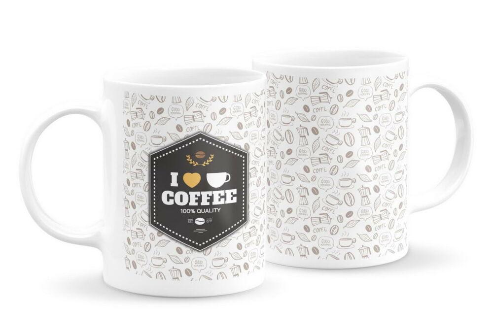 Emblémás kávés bögre 1