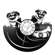 Házőrző kutyák bakelit óra