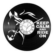 Ló - Keep calm bakelit óra
