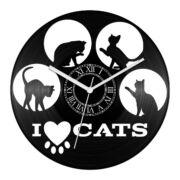 Macskás bakelit óra