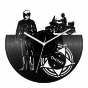 Motoros rendőr bakelit óra