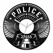 Rendőr jelvény bakelit óra