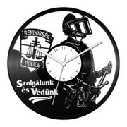 Rendőrség bakelit óra