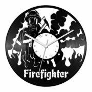 Tűzoltó bakelit óra