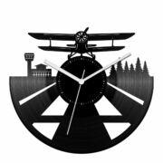 Duplafedelű repülőgép bakelit óra