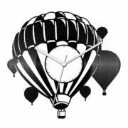 Hőlégballonok bakelit óra