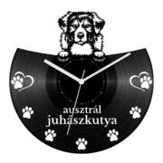 Ausztrál juhászkutya bakelit óra