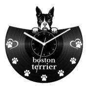 Boston terrier bakelit óra