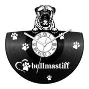 Bullmastiff bakelit óra