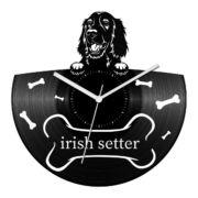 Ír szetter bakelit óra