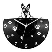 Német juhászkutya bakelit óra
