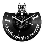 Staffordshire terrier bakelit óra