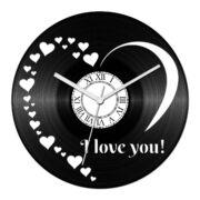 Szívecskés - szerelmes 1 bakelit óra