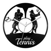 Teniszezők bakelit óra