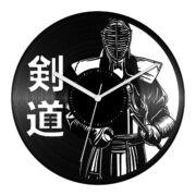 Kendó harcos bakelit óra