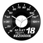 Autós szülinapi bakelit óra - 18 felett