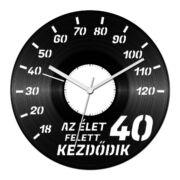 Autós szülinapi bakelit óra - 40 felett