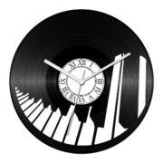 Zongorabillentyűk bakelit óra