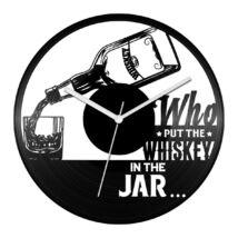Whiskey feliratos bakelit óra