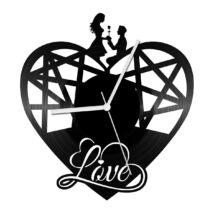 Szív alakú hálós bakelit óra