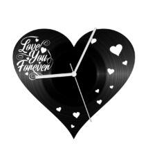 Szív alakú bakelit óra