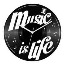Music is life bakelit óra