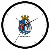 Bács-Kiskun megye címeres falióra - órás