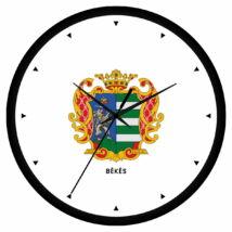Békés megye címeres falióra - órás
