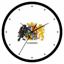Csongrád megye címeres falióra - órás