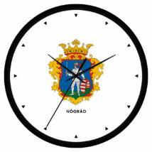 Nógrád megye címeres falióra - órás