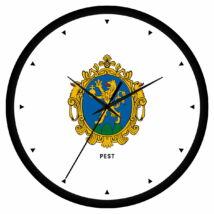 Pest megye címeres falióra - órás