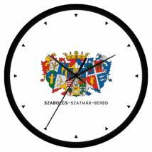 Szabolcs-Szatmár-Bereg megye címeres falióra - órás