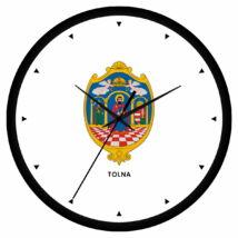 Tolna megye címeres falióra - órás