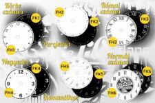 Bakelit óra számlap típusok