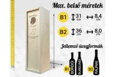 Bika csillagjegyes bortartó doboz méretek
