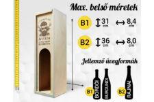 Varrónő bortartó doboz méretek