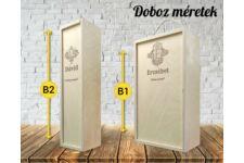 Névnapos bortartó doboz variációk