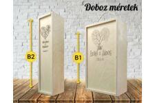 Romantikus 5 bortartó doboz variációk