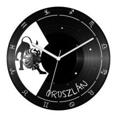 Oroszlán csillagjegyes bakelit óra