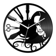 Fodrász bakelit óra