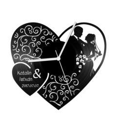 Esküvő 1 bakelit óra
