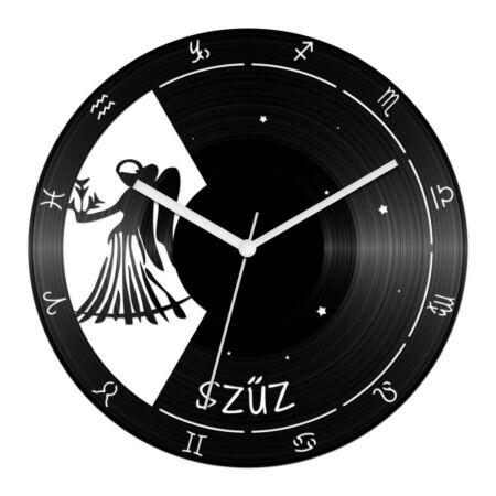 Szűz csillagjegyes bakelit óra