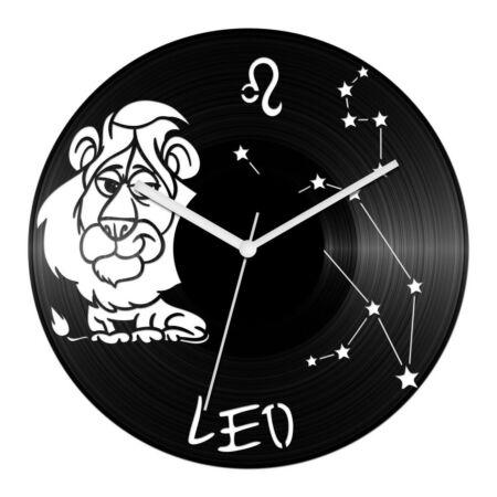 Vicces Oroszlán csillagjegyes bakelit óra