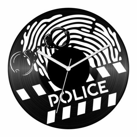 Rendőrségi helyszínelők bakelit óra