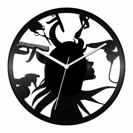 Fodrászszalon bakelit óra