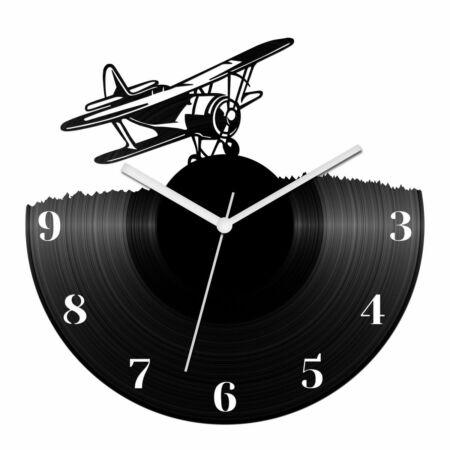 Kétfedelű repülőgép bakelit óra