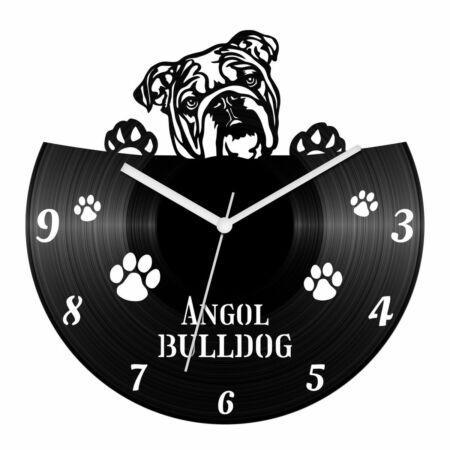 Angol bulldog bakelit óra