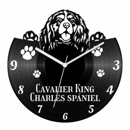 Cavalier King Charles spániel bakelit óra