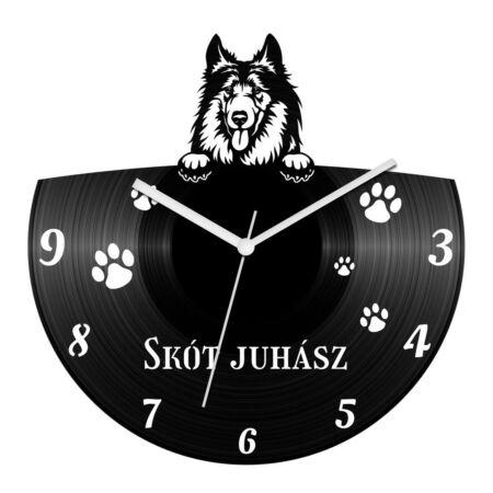 Skót juhászkutya bakelit óra