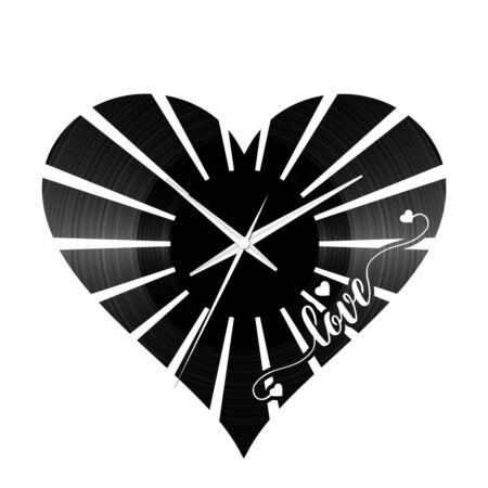 Szív bakelit óra